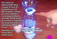 Comment faire un déshumidificateur maison Just Do It, Lava Lamp, Inventions, Living Room Designs, Shot Glass, Diy And Crafts, Water Bottle, Soap, Hacks
