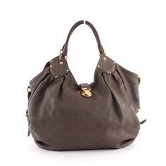 Louis Vuitton Acajou Gray L Large Hobo Bag