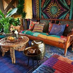 Boho Living Space || Colour/Interior Design/Comfort/Home/Exotic