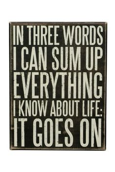 """""""It Goes On"""" Box Sign by Primitives by Kathy on @HauteLook"""