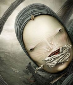 Artist Anton Semenov lives in the city of Bratsk, Siberia. His scary paintings really startle, but all the lovers of gloomy dark style admire Anton's drawing. Illustration Art Nouveau, Digital Illustration, Arte Horror, Horror Art, Dark Fantasy, Fantasy Art, Scary Paintings, Art Sinistre, Art Alien