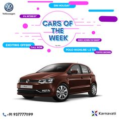 #CarsOfTheWeek : Polo Highline 1.5 TDI (Toffee Brown) Our Cars of the Week offers some highlight deals and models that deserve your attention! Make sure you check back regularly for the latest updates!