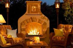 Outdoor Greatroom Company Sonoma Gas Fireplace Surround in Mocha @besthomehq