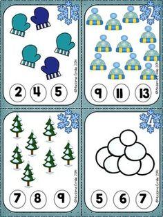 FRENCH {Winter}Math and literacy Pack/ Hiver {littératie et numératie} Winter Activities For Toddlers, Snow Activities, Toddler Learning Activities, Kindergarten Activities, Bee Crafts For Kids, Math For Kids, Winter Fun, Winter Theme, Kids Math Worksheets