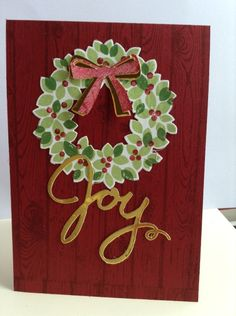 Christmas Joy www.stampingwithlinda.com Check out my Stamp of the Month Kit Program Linda Bauwin – CARD-iologist Helping you create cards from the heart.