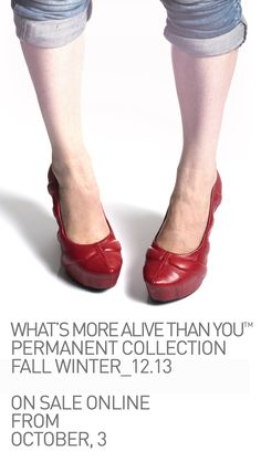 -2 days to the opening of WHAT'S MORE ALIVE THAN YOU™ E-Shop! Permanent collection Fall Winter_12.13 on sale online from October, 3