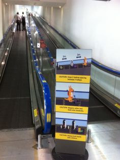 The surroundings of our video are beginning to take place, with the blue handrails and our signage now LIVE to match our message in the for the Airport.