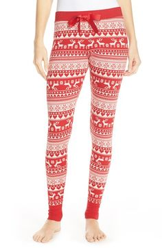 Free shipping and returns on Make + Model Intarsia Leggings at Nordstrom.com. A solid ribbon-frontedwaistband and wide banded cuffs frame a lively intarsia-knit pattern on thesesleep bottoms fashioned into a cozy legging fit.