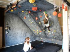 DIY rock climbing wall for kids