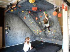 DIY rock climbing wall for kids                                                                                                                                                                                 More
