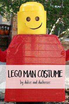 DIY lego man minifigure costume