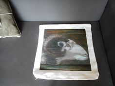 Impression of original pastel painting (this one painted on bast). The original can be eventually purchased: contact us! All the cushion covers have a limited edition: 25 pieces maximum. Cushion size: 45cm x 45cm