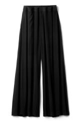 <p>The Dillion Trousers are a pair of high-waisted trousers with a comfortable, loose fit. They have a slightly elasticated waist and a cropped, wide leg for a flattering silhouette.</p><p><br />- Size 38 measures 79,50 cm in extended waist circumference and 64 cm inseam.<br /></p>