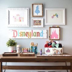 """1,142 Likes, 34 Comments - Little Moon Dance Designs (@littlemoondance) on Instagram: """"Ok I'm LOVING this fun, colorful and Disney themed gallery wall. Thanks for including my Bold Small…"""""""