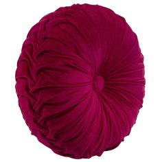Liven up your home décor with the Holan Pleated Round Pillow, Pink. Visit your local At Home store to purchase and find other affordable Throw Pillows. Black Throw Pillows, Pink Pillows, Toss Pillows, Decorative Throw Pillows, Pink Velvet Pillow, Velvet Pillows, Magenta Bedrooms, Living Room Decor, Bedroom Decor