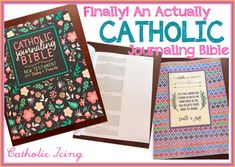 There's finally a REAL Catholic bible journal! Check it out! Catholic Bible, Catholic Crafts, Losing My Religion, Religion Catolica, Teaching Religion, Bible News, Illustrated Faith, Daily Prayer, Bible Scriptures