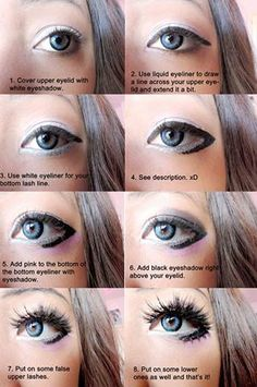 Cosplay eye make up tutorial~  Credit: https://www.facebook.com/MoonPhase