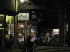 Basil Restaurant,  Carmel's first #certified #Green #Restaurant.  Reserve a table on their patio.