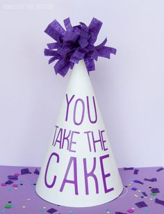 'You Take The Cake' Party Hats with Cricut Explore by MichaelsMakers Love The Day