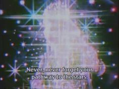 never, never forget your pathway to the stars. moon bts aesthetic stars galaxy sparkle sky glow anime aesthetic
