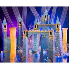Have a large space for your party? Decorate for your fairytale party with this enchantment castle.