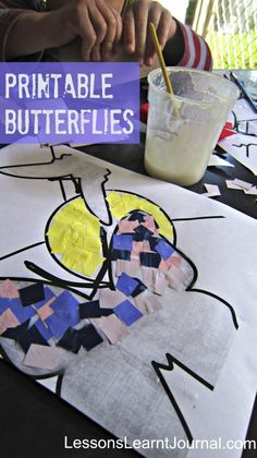 @LLJournalAust: beautiful free printable butterflies mosaic for your preschooler or toddler.