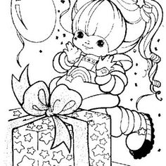 images of rainbow bright coloring pages | Rainbow Brite Got A Great Gift Coloring Pages