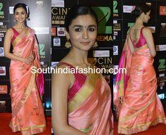 Alia Bhatt in Madhurya saree at the Zee Cine Awards 2017