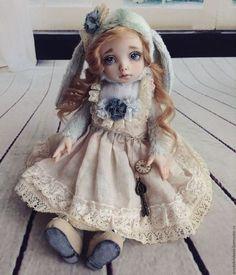 Коллекционные куклы ручной работы. Ярмарка Мастеров - ручная работа. Купить Алиса. Шебби. Тедди-долл зайка.. Handmade.