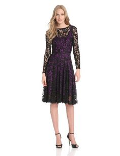 Isaac Mizrahi Women's Long Sleeve Lace Dress with Color Lining, Black/Fuchsia, 4 Isaac Mizrahi,http://www.amazon.com/dp/B00DME457K/ref=cm_sw_r_pi_dp_1no2sb0YVSTVMJTD