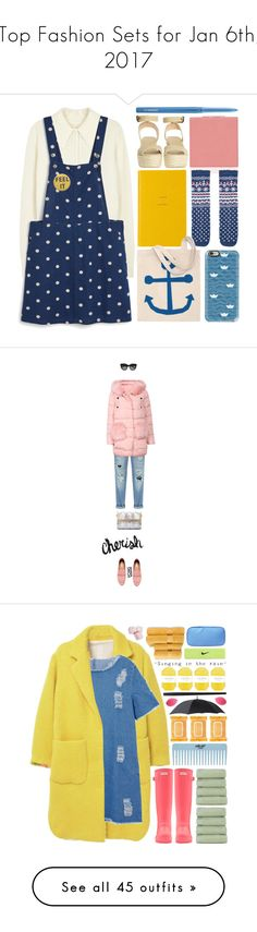 """""""Top Fashion Sets for Jan 6th, 2017"""" by polyvore ❤ liked on Polyvore featuring Frame, Monki, Smythson, Casetify, Castañer, MAC Cosmetics, overall, Le Specs, yoins and yoinscollection"""