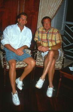 1991 Lee's son, Lee Jr (on left) & Lee Majors (on right)