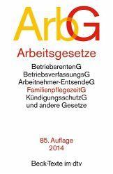 Arbeitsgesetze (ArbG), 85. Auflage