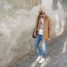 tifmys - Ray Ban Clubmaster sunnies, Forever 21 college jacket, Adidas Orchid shirt, H&M boyfriend jeans, M0851 Hobo bag & Superga Macramew sneakers.