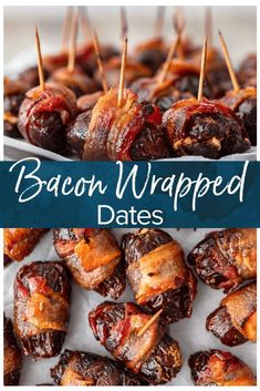 This Bacon Wrapped Dates recipe is one tasty appetizer! Everyone loves a good bacon wrapped recipe, and these bacon wrapped dates with goat cheese and pecans are out of this world. They're perfect for game day and New Year's Eve! #newyearseve #appetizers #holidayrecipes via @beckygallhardin