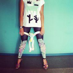 MultiCat Black leggings by QooQooFashion on Etsy, $60,00