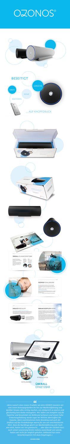 Corporate und Product Branding der patentierten Weltneuheit OZONOS. #Branding #ProductDesign #PackagingDesign #LogoDesign #BrandCommunication
