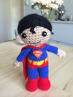 Superman Amigurumi by Clare Heesh