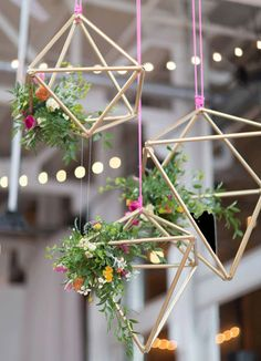 Suspended centerpiece - so modern! If at lightspace