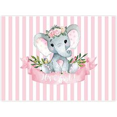 Motivation to assist commemorate and prepare for your child girl or infant kid- baby shower styles, decor, and computer system registry concepts. Elephant Party, Elephant Birthday, Elephant Baby Showers, Little Elephant, Baby Elephant, Birthday Decorations, Baby Shower Decorations, Birthday Photography, Flower Photography