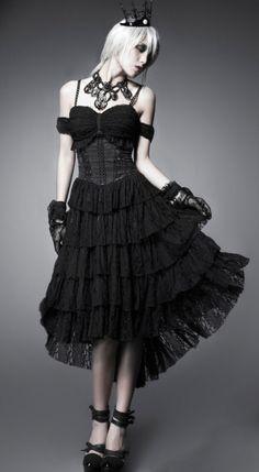 Beautiful PUNK RAVE GOTHIC DECADANCE DRESS on sale NOW!