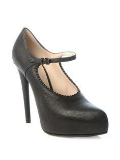 #BOTTEGA VENETA Mary Jane high heel shoes