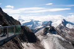 From the 'Top of Salzburg' a viewing platform at 3,029m on Austria's Kitzsteinhorn glacier you can see 300 mountains towering over 3,000m.