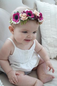Your place to buy and sell all things handmade Felt Flowers, Fabric Flowers, Paper Flowers, Felt Headband, Baby Headbands, Flower Headbands, Felt Diy, Felt Crafts, Crown Pictures