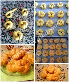 Κουλουράκια πορτοκαλιού Greek Sweets, Greek Desserts, Greek Recipes, Greek Cookies, Greek Pastries, Cookie Recipes, Dessert Recipes, Biscuit Cookies, Christmas Sweets