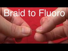 Learn how to tie a double uni knot in this educational video. In it, you'll see that standard knot and then a special alteration for braided line. Fishing Rigs, Surf Fishing, Crappie Fishing, Saltwater Fishing, Fishing Lures, Fishing Stuff, Fishing Tackle, Best Fishing Knot, Fishing Knots Braid