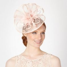 Debut Light pink pointed feather corsage fascinator- at Debenhams.com