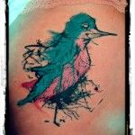 hummingbird. post modern tattoo. custom colour tattoo studio, catshill  bromsgrove.