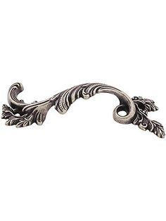 Left Fancy Swirl Pull with Choice of Finish|House of Antique Hardware