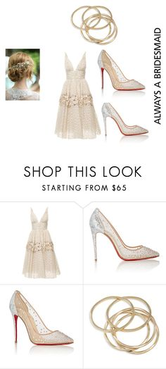 """""""Always a Brides Maid"""" by lexiview ❤ liked on Polyvore featuring Carolina Herrera, Christian Louboutin and ABS by Allen Schwartz"""